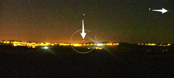 Did I see a UFO over black Bank Knutton?