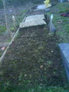 Marking out the beds