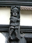 Carvings at Little Moreton Hall