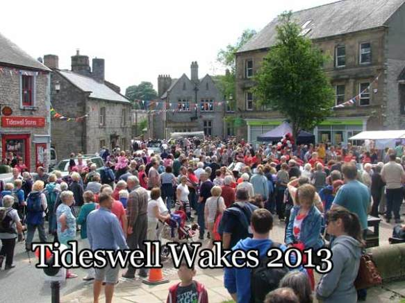 Crowds in Tideswell's Pot Market