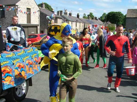 Tideswell Carnival Super Heroes