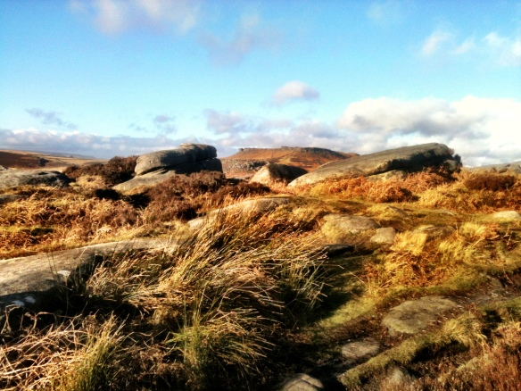 Looking toward Carl Wark and Higger Tor