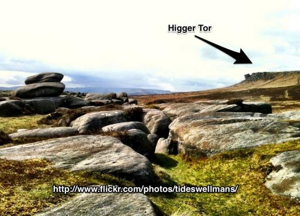 Looking toward Higger Tor