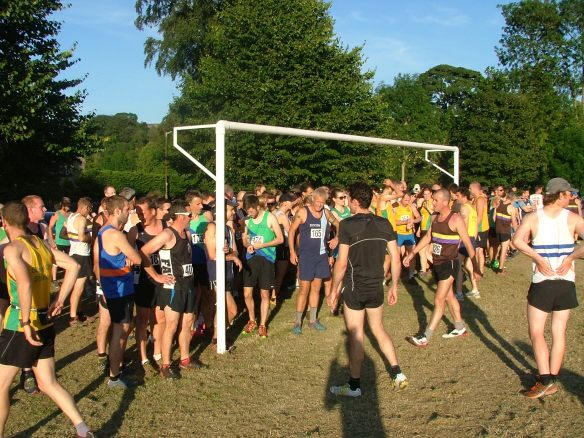 Runners line up at Stoney Fell Race