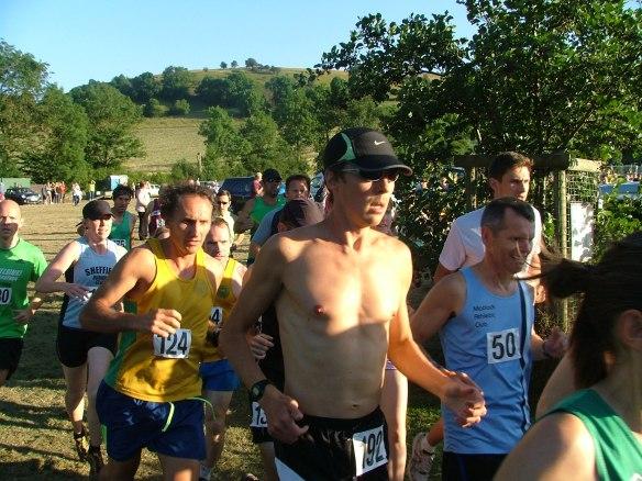 runners at Stoney Middleton