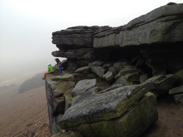 Climbers on Stanage