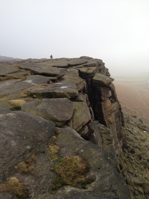 Walkers on Stanage Edge