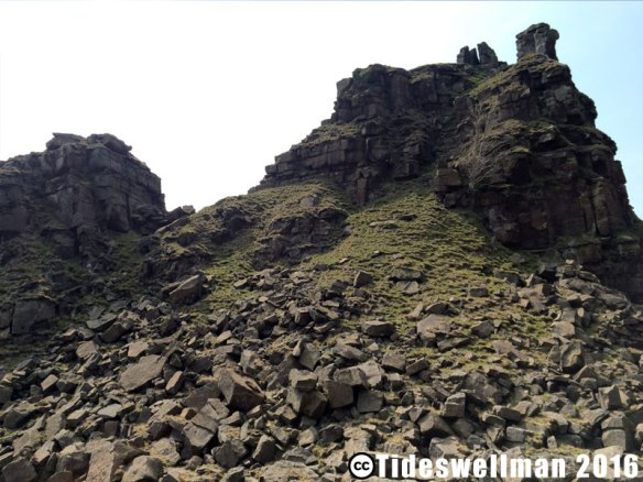 Climbing alport Castles