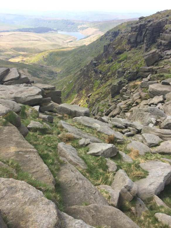 Cliffs at Kinder Downfall