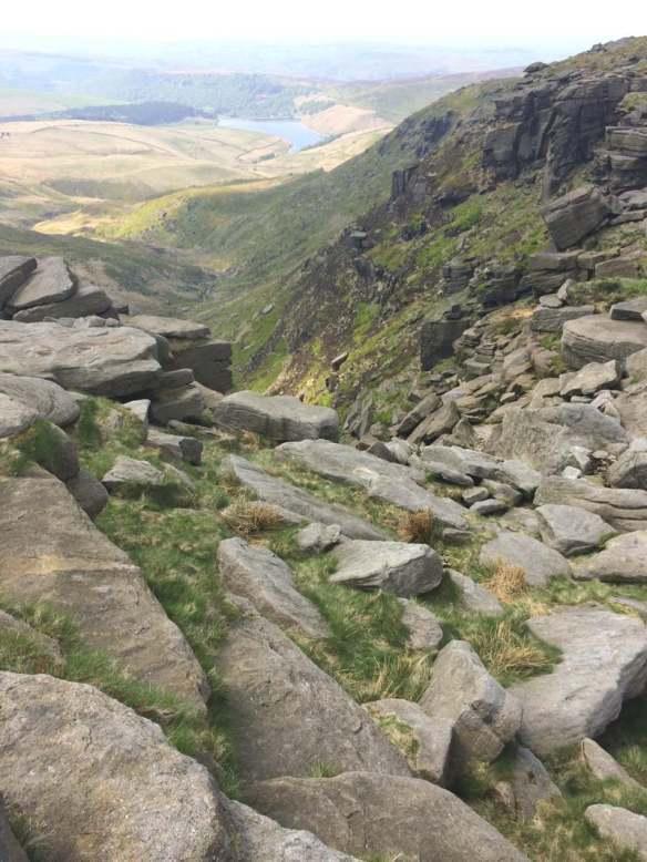 Cliffs at Kinder Downfall